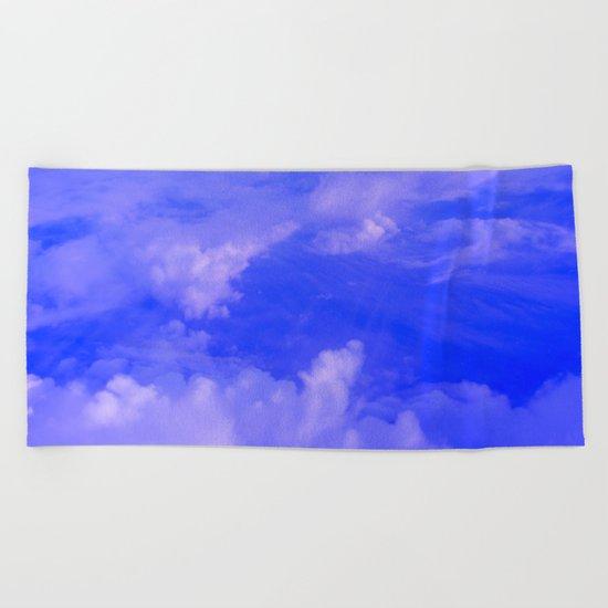 Aerial Blue Hues III Beach Towel