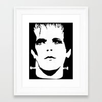 lou reed Framed Art Prints featuring Lou Reed Reanimated  by Spirit Monster
