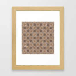 Beach Tiled Pattern Framed Art Print