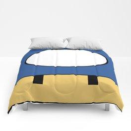 Minimal Toad blue Comforters