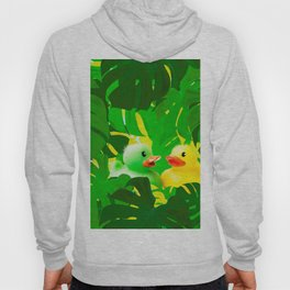 Small Rubber Ducks with Large Monstera Leaves #decor #society6 #buyart Hoody