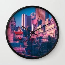 Early Morning Tokyo Wall Clock