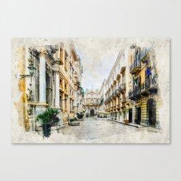 Trapani art 1 Canvas Print