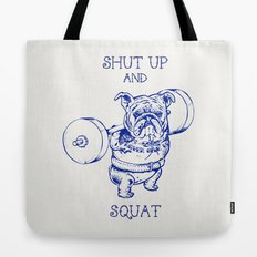 English Bulldog Squat Tote Bag