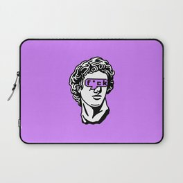 Caesar's Disappointment on Purple Background Laptop Sleeve
