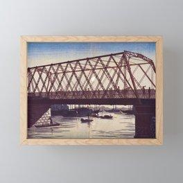 Inoue Yasuji - Reiganjima High Bridge Framed Mini Art Print