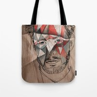 men Tote Bags featuring Men by Mary Szulc