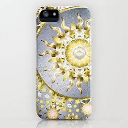 Golden Moon and Sun iPhone Case