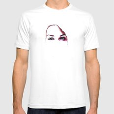 Say No MEDIUM Mens Fitted Tee White