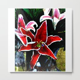 Tiger Lily jGibney The MUSEUM Society6 Gifts Metal Print