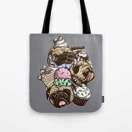 Dogs & Desserts Tote Bag