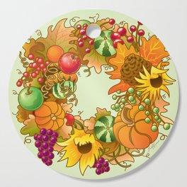 Fall Wreath Cutting Board