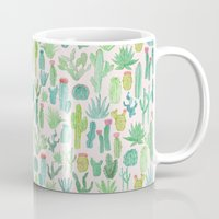 cactus Mugs featuring Cactus by Abby Galloway