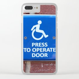 Press To Operate Door Clear iPhone Case