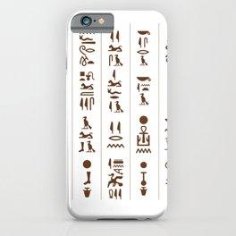 Egyptian Hieroglyphics design / Egyptian Ancient / Pyramids lover Egypt History / Egypt gift idea archeologist anthropology gift iPhone Case