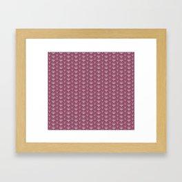 Pink Japanese Wave Pattern Framed Art Print