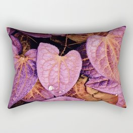 Fallen Leaves With Dew Rectangular Pillow