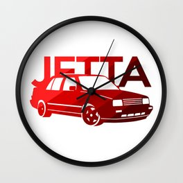 Volkswagen Jetta - classic red - Wall Clock