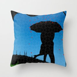Love Jigsaw Throw Pillow