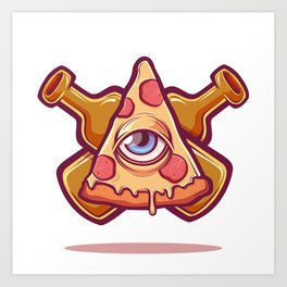 Pizza is my religion Art Print