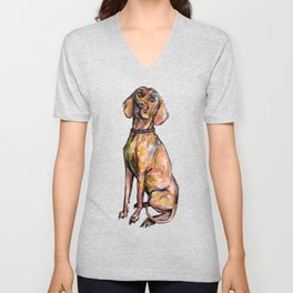Hungarian Vizsla Dog Unisex V-Neck