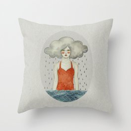 Aglaura Throw Pillow