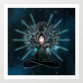 Emanate love Chakra Art Print