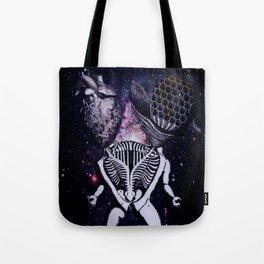Honeycomb Heart Tote Bag