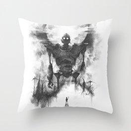 The Iron Intruder Throw Pillow