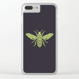 The Bee is not envious - Geometric insect design Clear iPhone Case