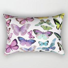 Butterfly Rainbow Rectangular Pillow