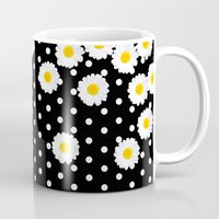 daisy Mugs featuring DAISY by Monika Strigel