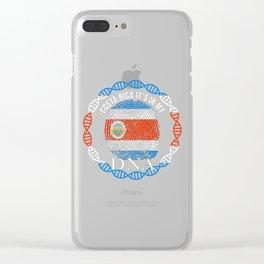 Costa Rica Its In My DNA Clear iPhone Case