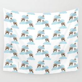 Giraff in the clouds . Joy in the clouds collection Wall Tapestry