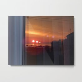 4 Suns in a Window Metal Print