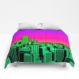 Cityscape Collage 02B Comforters