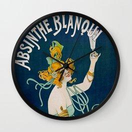 Vintage Absinthe Blanqui Ad Wall Clock