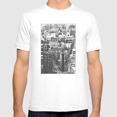 Old Downtown MEDIUM Mens Fitted Tee White