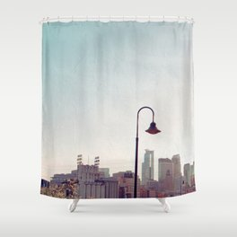 Minneapolis Minnesota Skyline at the Stone Arch Bridge Shower Curtain