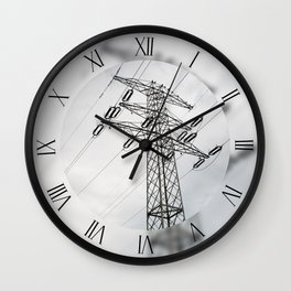 Electric power transmission tower Wall Clock