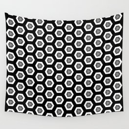 Beehive Black Wall Tapestry