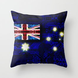 circuit board australia (flag) Throw Pillow
