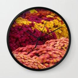 Fall Mums Wall Clock