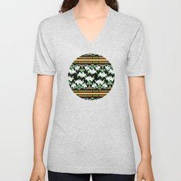 Elizabethan Lily Folkloric Stripe Unisex V-Neck