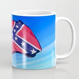 Confederate flag waving on the wind Coffee Mug