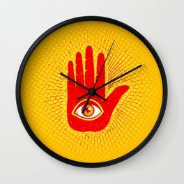 Hand and eye Wall Clock