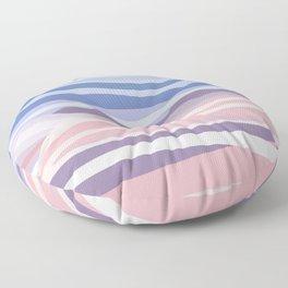 Bohemian Waves // Abstract Baby Blue Pinkish Blush Plum Purple Contemporary Light Mood Landscape  Floor Pillow