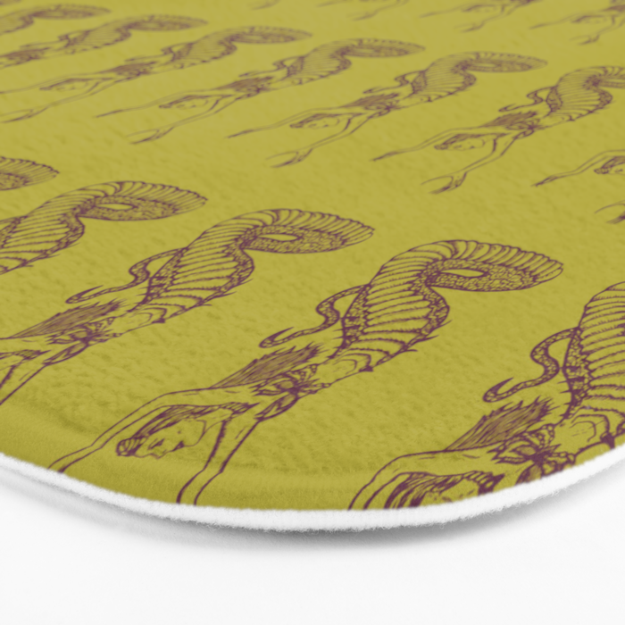 Ancient Echidna Mythical Mythology Color Pattern Bath Mat