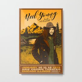 Neil Young 1973 Tour Metal Print