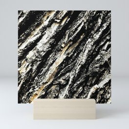 Diagonal Tree Bark Texture Mini Art Print